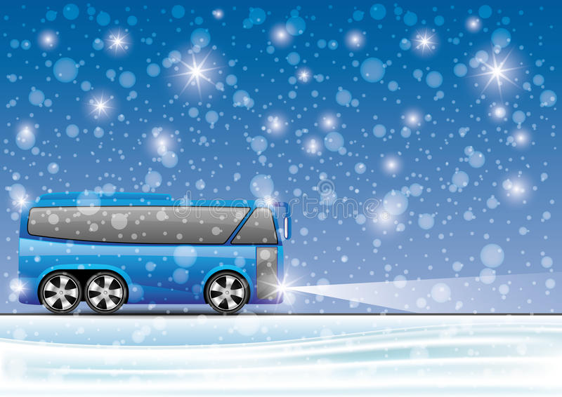 Vector illustratie bus royalty-vrije illustratie