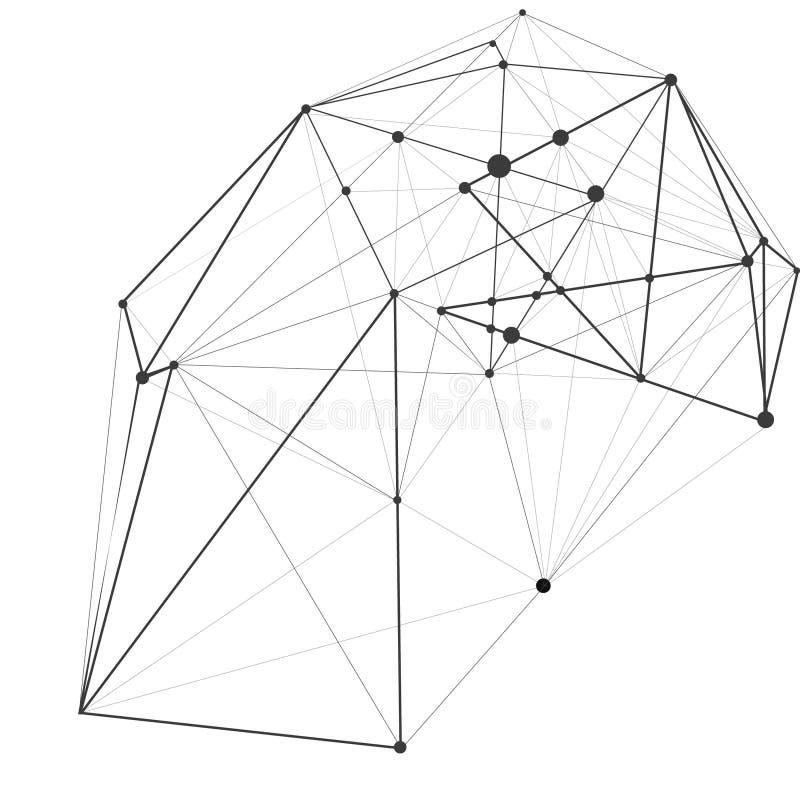 Vector illustratie De achtergrond van de veelhoekmeetkunde Abstracte veelhoekige geometrische vorm Explosie dimensionaal technolo stock illustratie