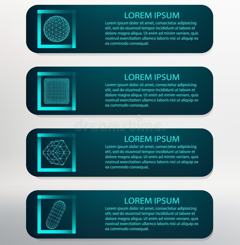 Vector illustratie De lijst van het Infographicmalplaatje royalty-vrije illustratie