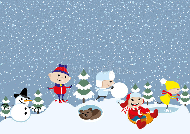 Vector illustratie De winter vector illustratie