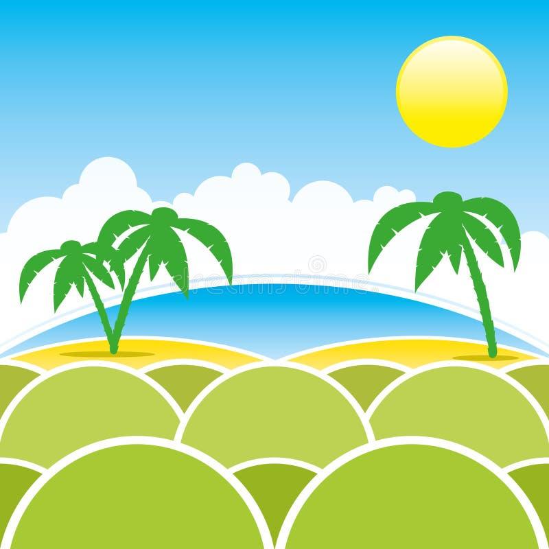 Vector illustratie De zomer stock illustratie