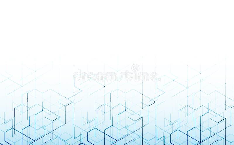 Vector illustratie Digitale technologie en techniekbackgrou stock illustratie