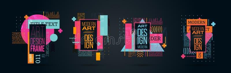 Vector illustratie Een minimalistic hipster gekleurd kaderontwerp stock fotografie