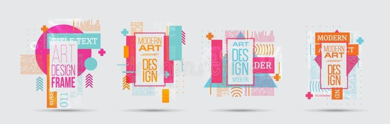 Vector illustratie Een minimalistic hipster gekleurd kaderontwerp stock foto's