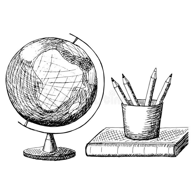 Vector illustratie  Lijnart. royalty-vrije illustratie