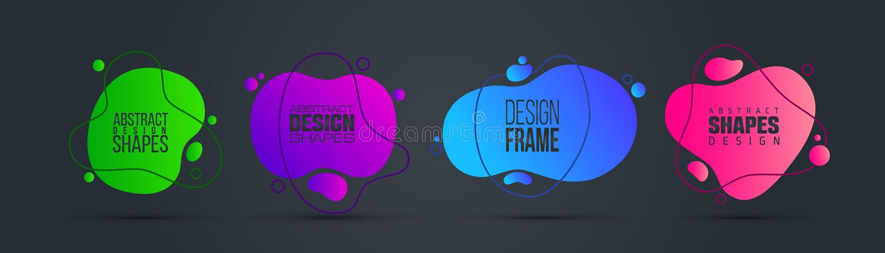 Vector illustratie moderne organische vloeistof grafisch kaderontwerp voor tekst royalty-vrije stock fotografie