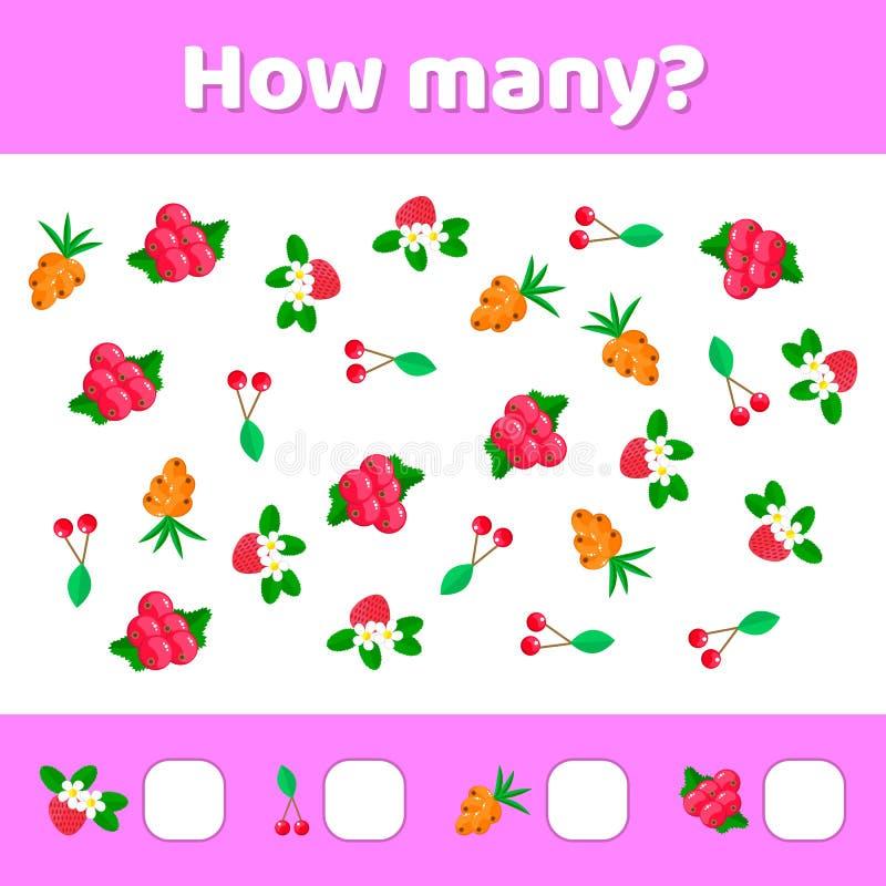 Vector illustratie Onderwijs een wiskundig spel Tellend g royalty-vrije illustratie