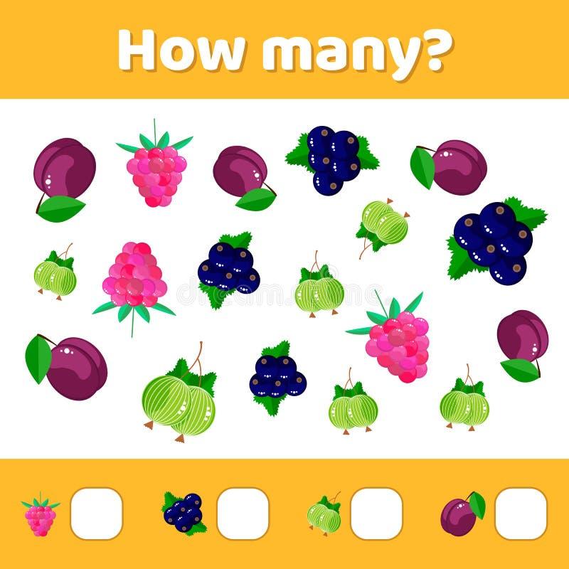 Vector illustratie Onderwijs een wiskundig spel Tellend g stock illustratie