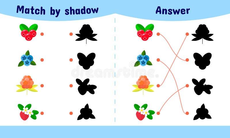 Vector illustratie Passend spel voor kinderen stock illustratie