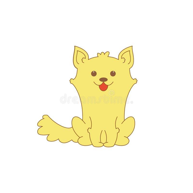 Vector illustratie Puppy van corgi Leuke beeldverhaal kleine hond EPS10 stock illustratie