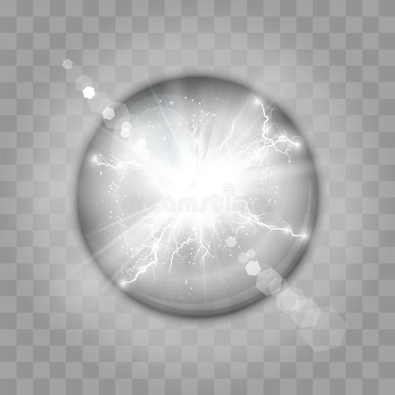 Vector illustratie Transparant Lichteffect stock illustratie