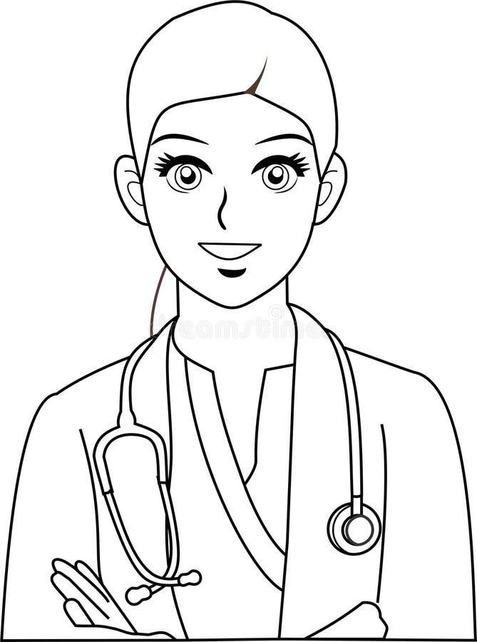 Vector - illustratie van arts vector illustratie