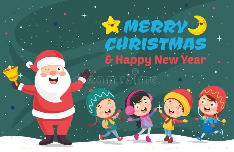 Vector illustratie van de Kerstman royalty-vrije illustratie
