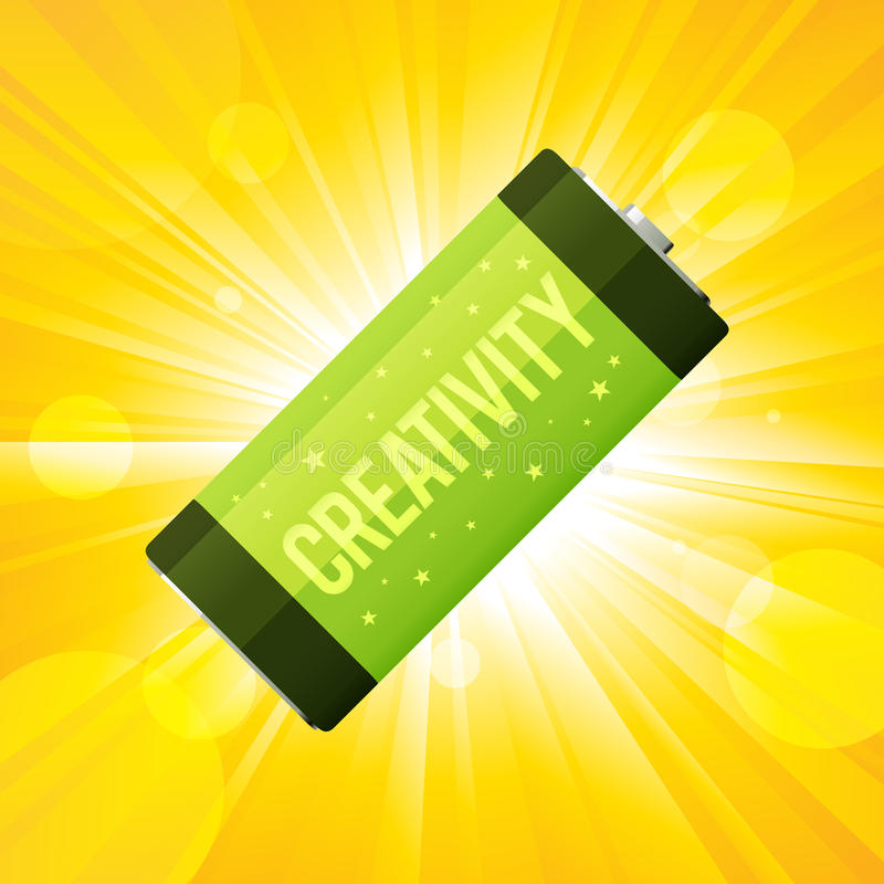 De Batterij van de creativiteit vector illustratie