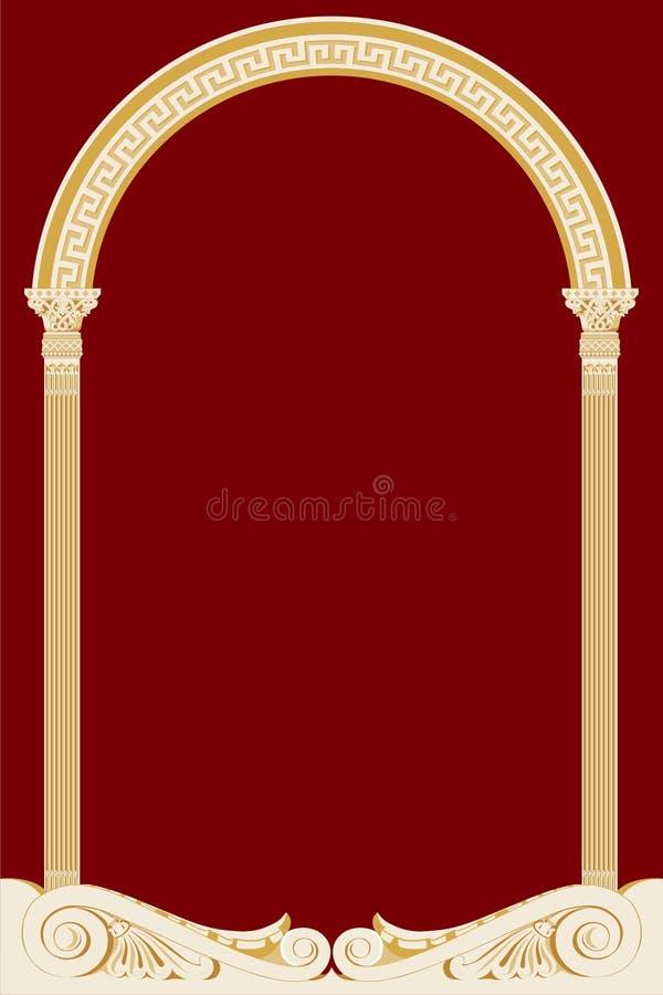 Vector illustratie van een oude boog stock illustratie