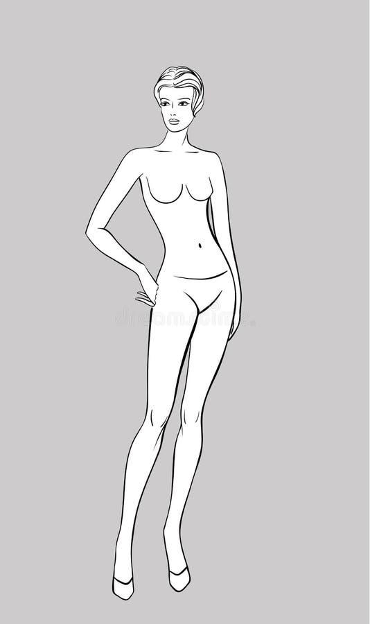 Het vrouwelijke Beeldje van de Manier stock illustratie