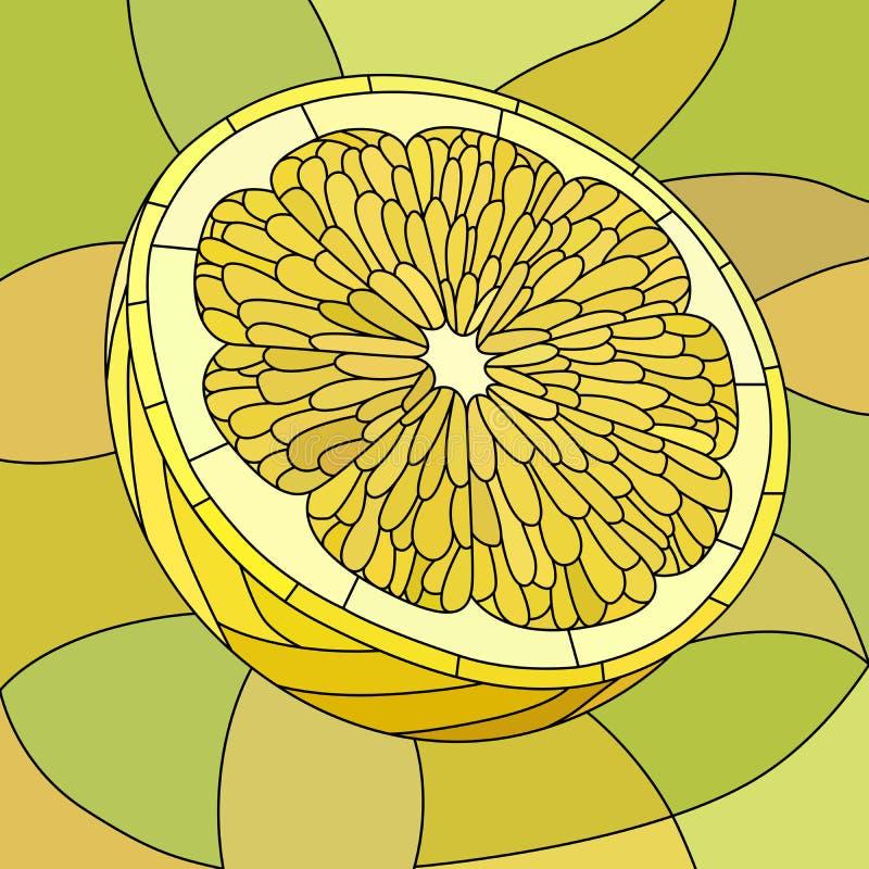 Vector illustratie van gele citroen. stock illustratie