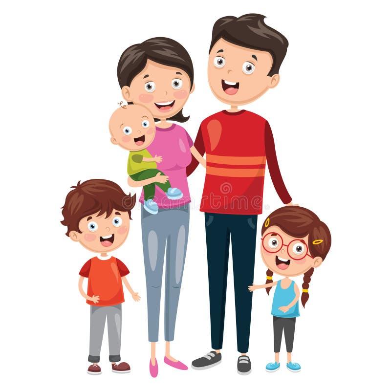 Vector illustratie van Gelukkige Familie stock illustratie