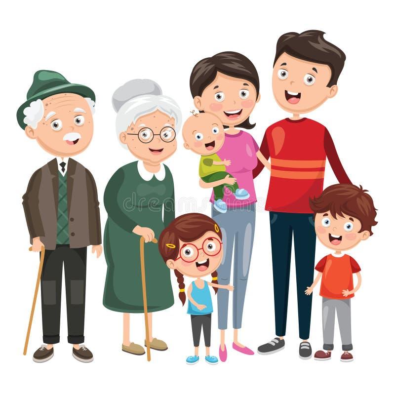 Vector illustratie van Gelukkige Familie royalty-vrije illustratie