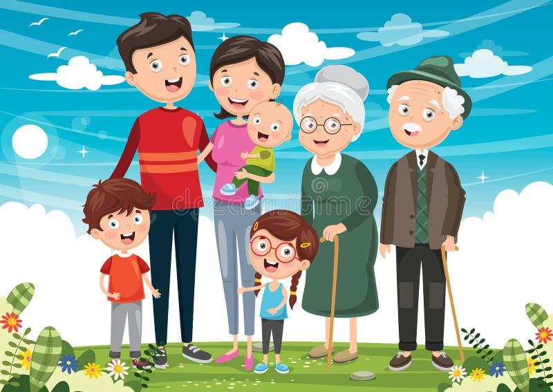 Vector illustratie van Gelukkige Familie vector illustratie