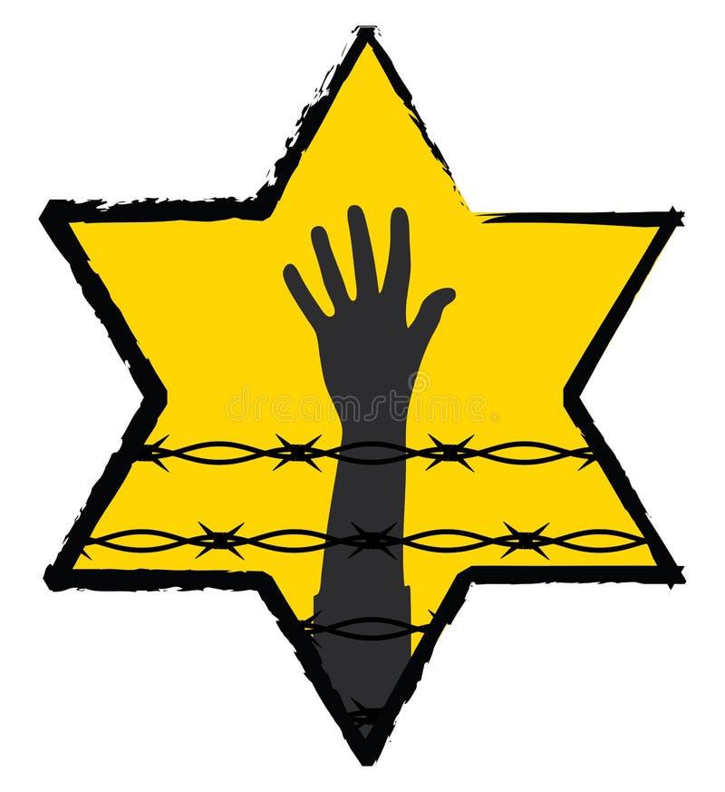Het symbool van de holocaust royalty-vrije illustratie