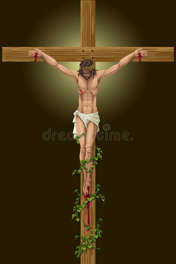 Jesus Christs Crucifixion royalty-vrije illustratie