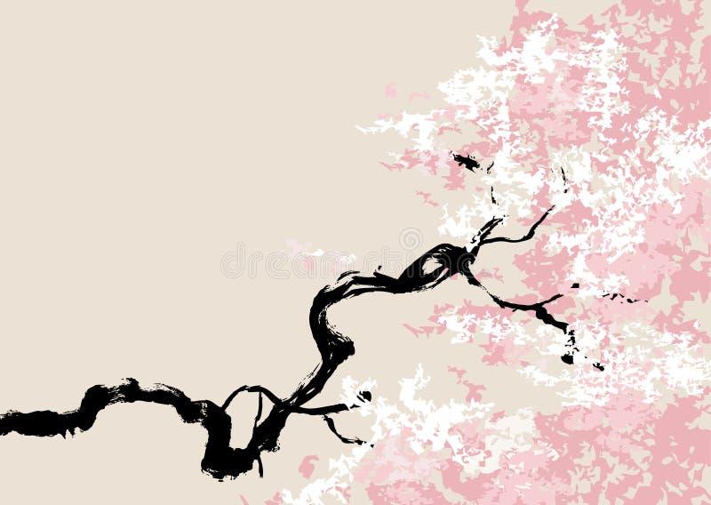 Vector illustratie van kersenbloesem stock illustratie