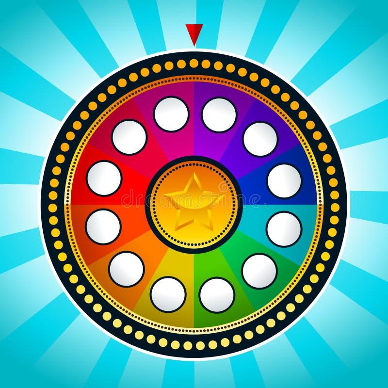 Kleurrijk Wiel van Fortuin stock illustratie