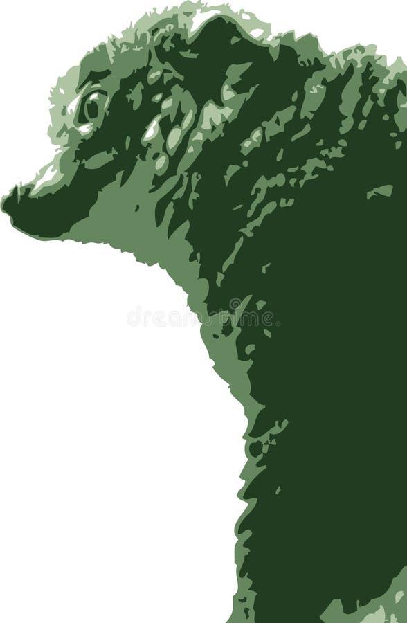 Vector illustratie van makiaap royalty-vrije stock fotografie