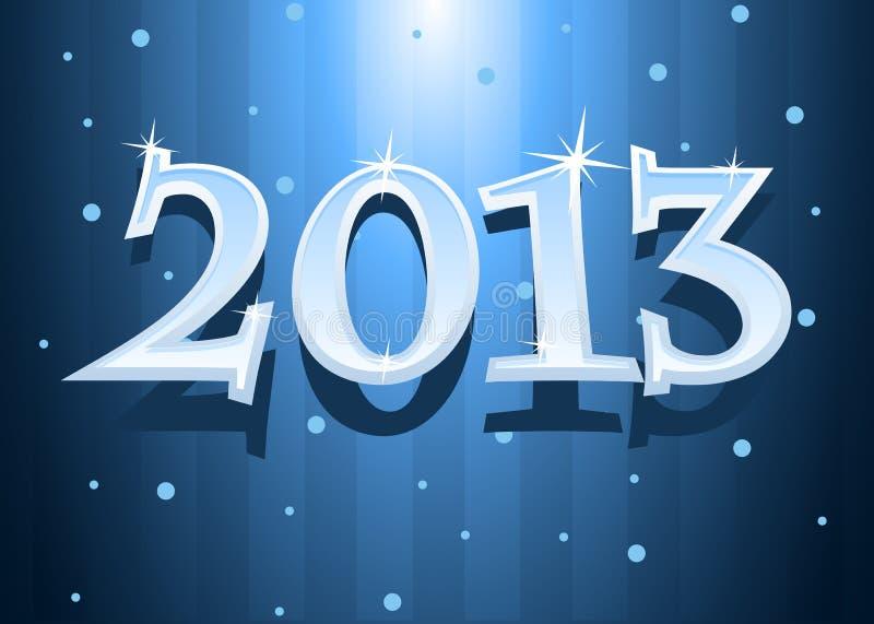 Vector illustratie van Nieuwjaar 2013 stock illustratie
