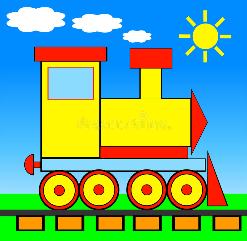 Vector illustratie van TREIN royalty-vrije illustratie