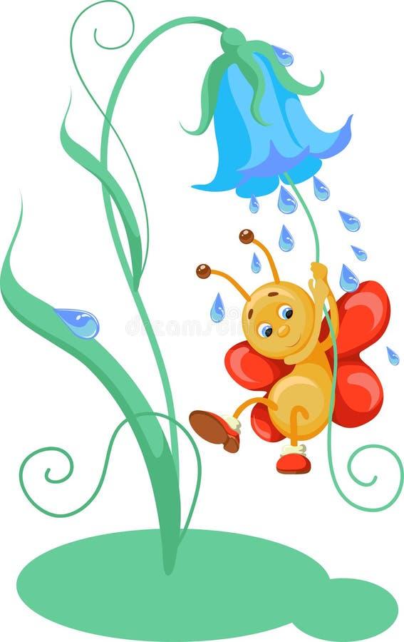 Vector illustratie van vlinder stock illustratie