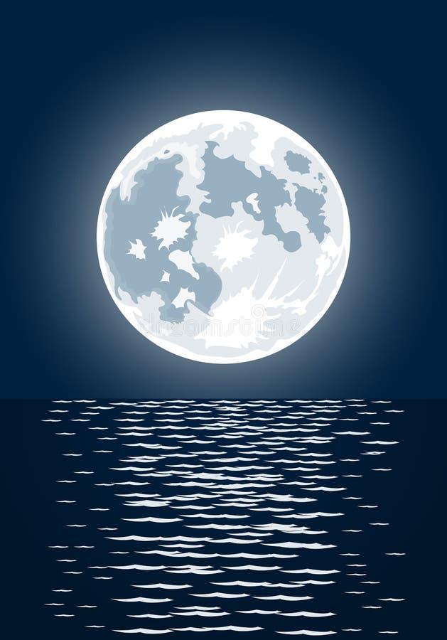Vector illustratie van volle maan royalty-vrije illustratie