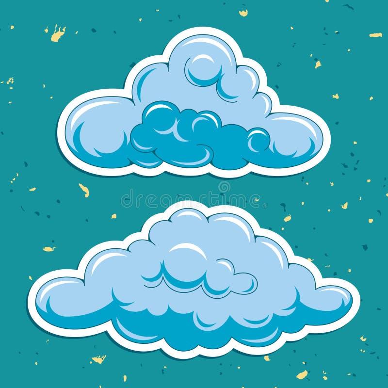 Vector wolken royalty-vrije illustratie