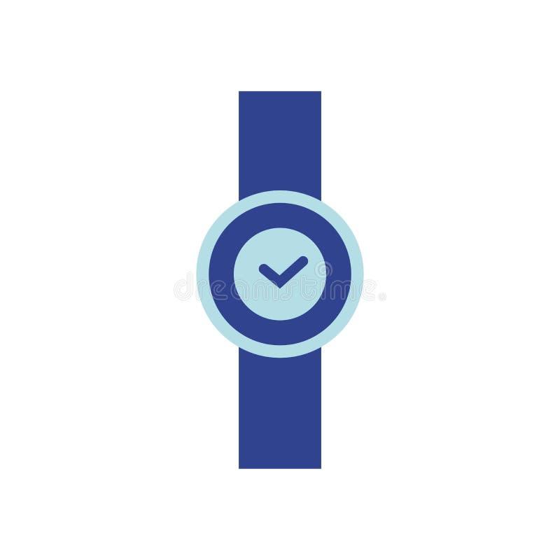 Vector illustratie Vlak horlogepictogram stock illustratie