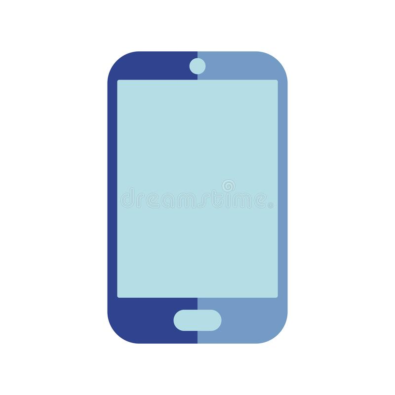 Vector illustratie Vlak smartphonepictogram stock illustratie
