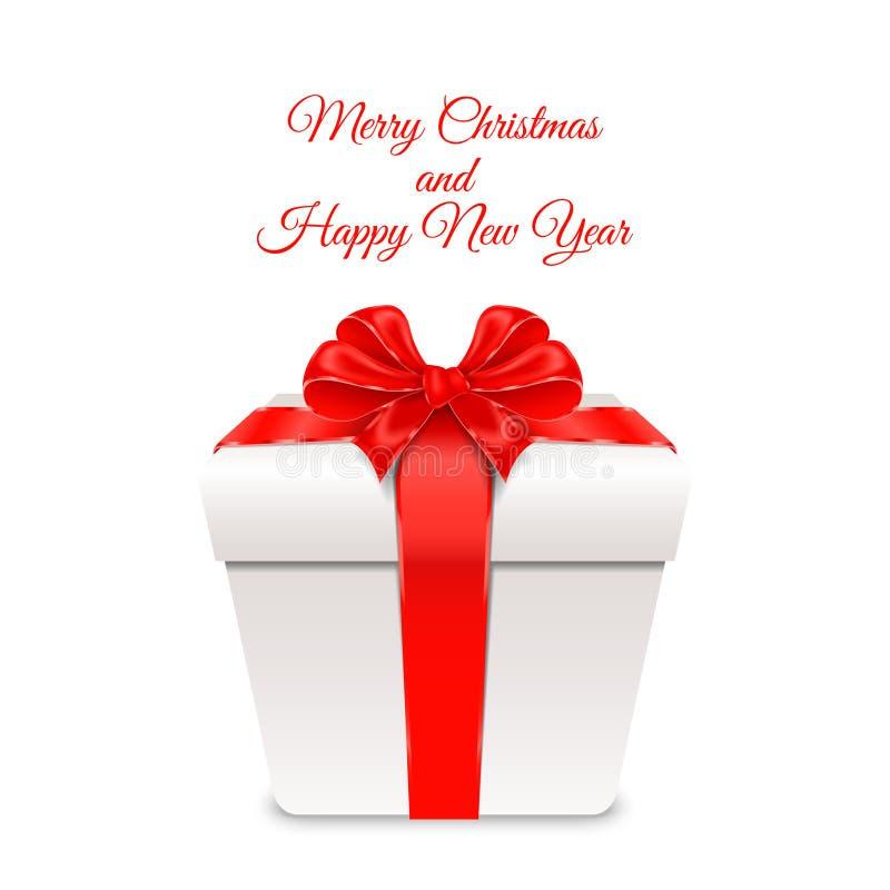 Vector illustratie Vrolijke Kerstmis en Gelukkig Nieuwjaar stock fotografie