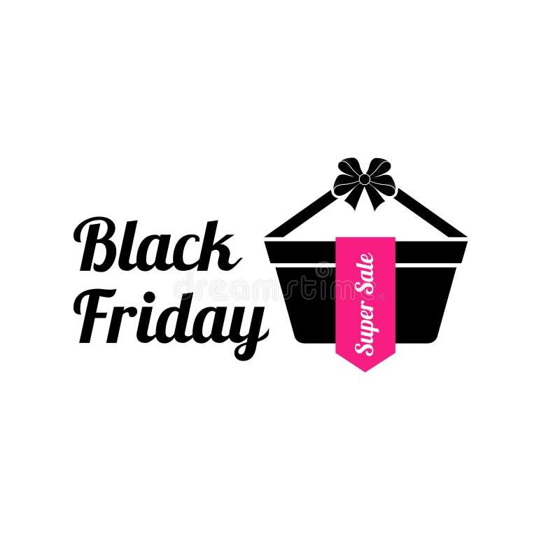 Vector illustratie Zwarte vrijdag Logo Black Friday stock foto