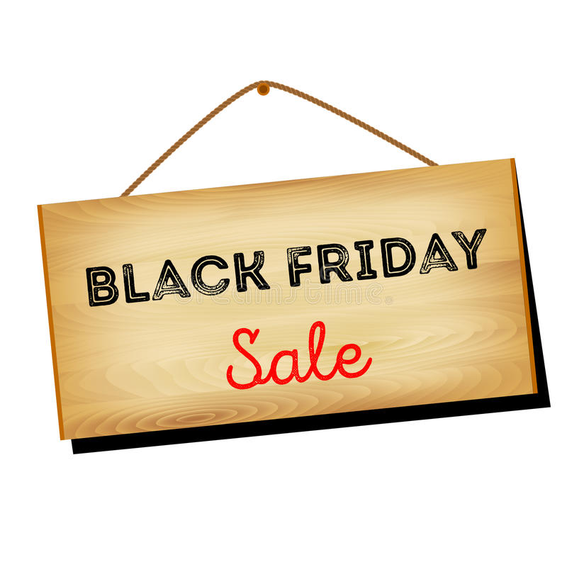 Vector illustratie Zwarte vrijdagverkoop stock foto