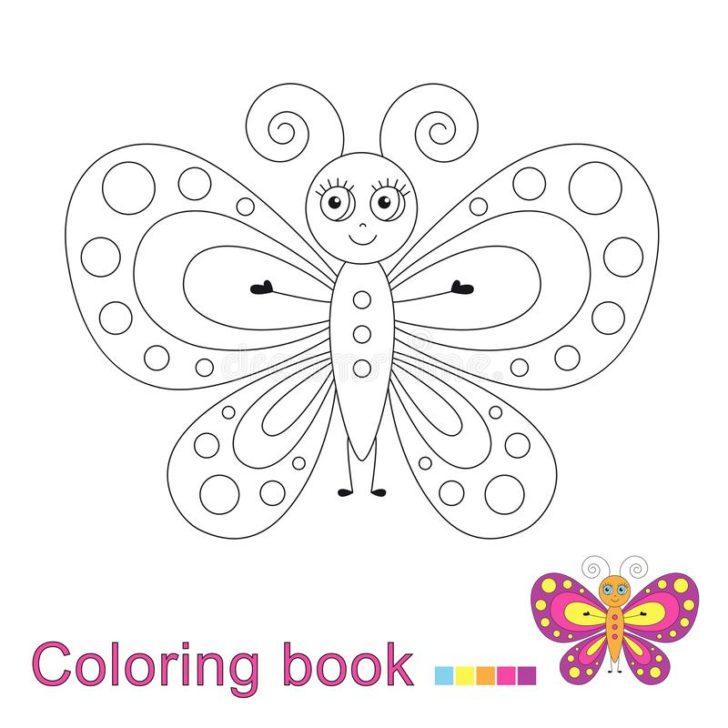 vector illustratiol funny butterfly coloring book vector illustratiol funny butterfly thr sky coloring book