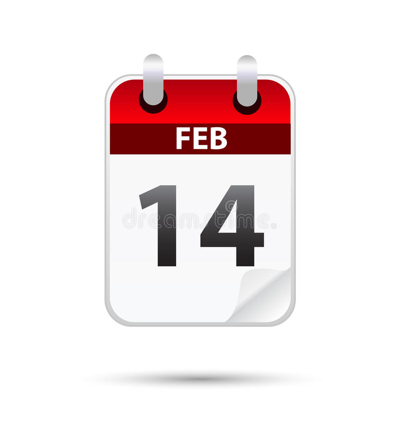 Vector illustration of 14th february date vector illustration