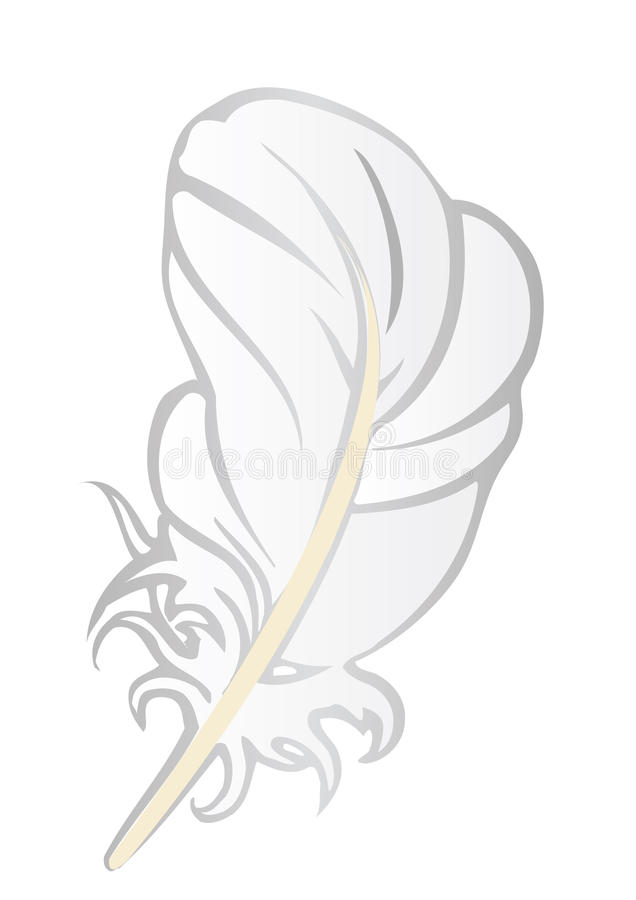 Free Vector Illustration A White Feather Royalty Free Stock Photography - 17959967