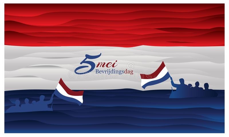 Vector illustration abstract background Netherlands national holiday of may 5. Bevrijdingsdag. designs for posters, backgrounds, c. Ards, banners, stickers, etc vector illustration