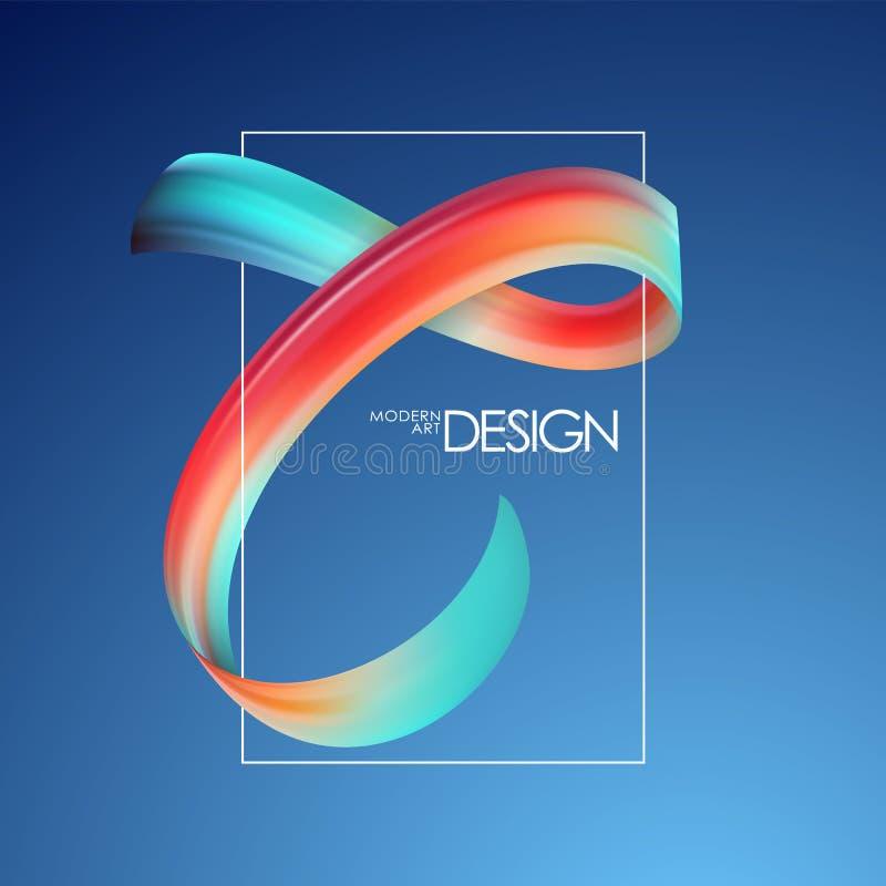 Vector illustration: Abstract brushstroke paint template for poster design. Modern art. stock illustration