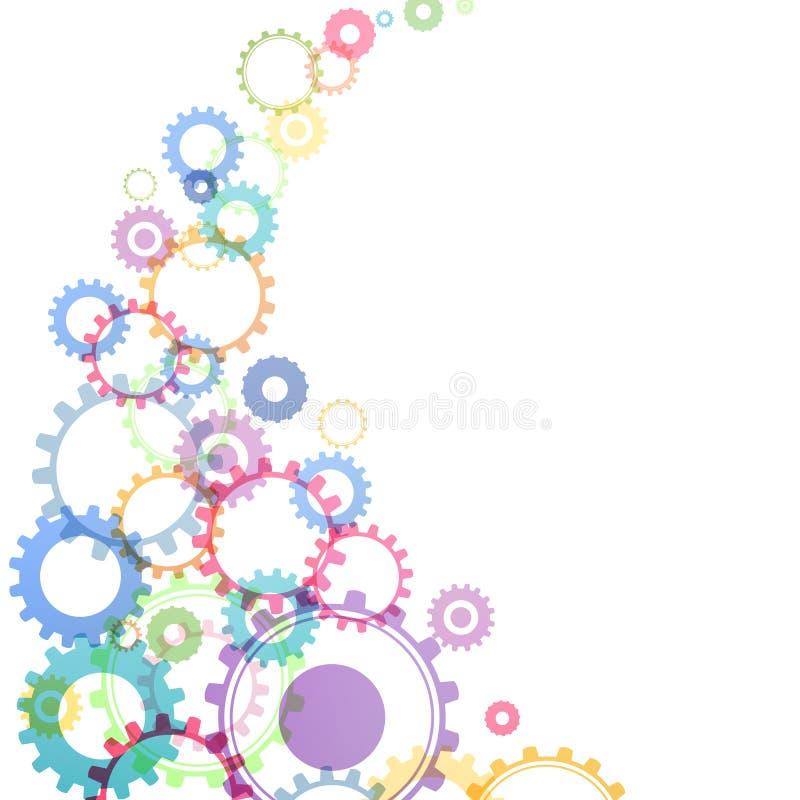 Cog wheels. Vector Illustration of Abstract Cog Wheels royalty free illustration