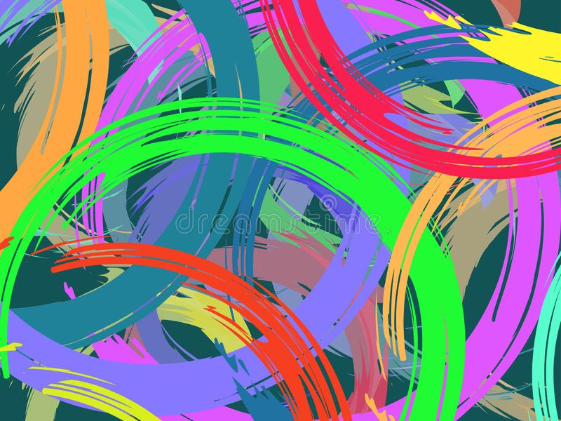 The vector background drawn with a brush royalty free illustration