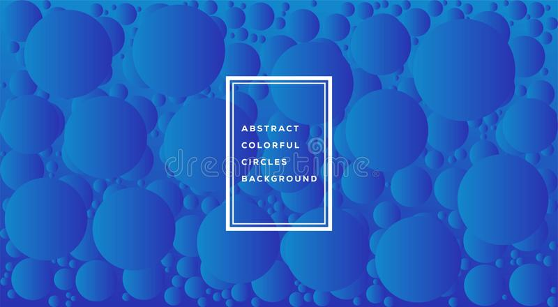 Vector illustration of abstract colorful circles template design for background. Glowing bubbles circle with gradient on white. royalty free illustration