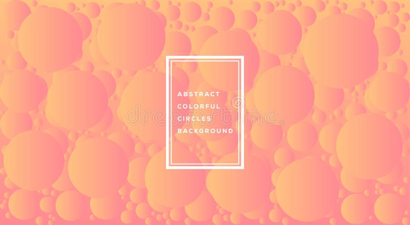 Vector illustration of abstract colorful circles template design for background. Glowing bubbles circle with gradient on white. stock illustration