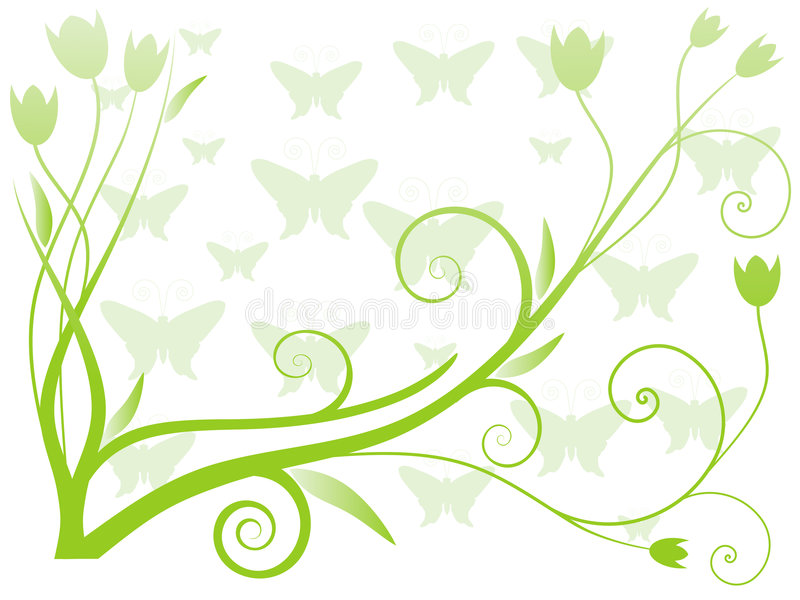 Vector Illustration of Abstract floral background royalty free illustration