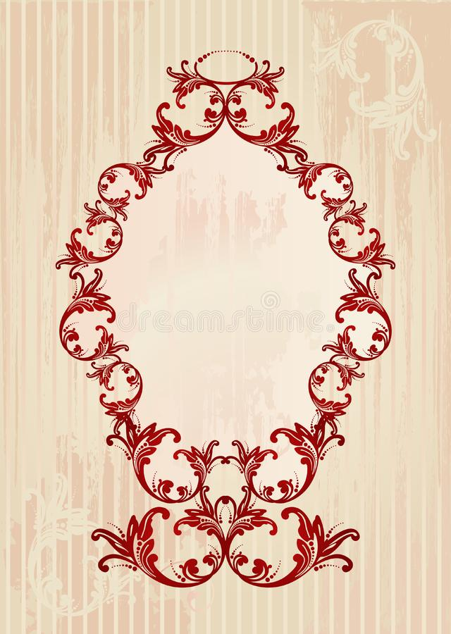 Vector illustration of an abstract floral frame stock image